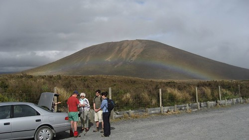 A rainbow greets us at the start of the crossing
