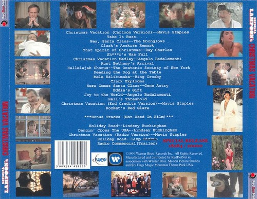 National Lampoon's Christmas Vacation soundtrack (rear cover)