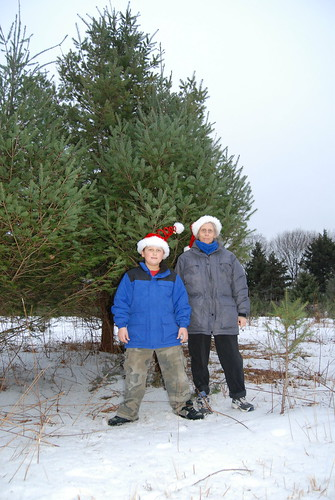 G, Me And Our Soon-To-Be Christmas Tree