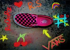[I <3 Her VANS] (S) Tags: 3 cherry star chalk rainbow shoes heart rockstar o ground x vans rs cherrykisses roorz rooorz