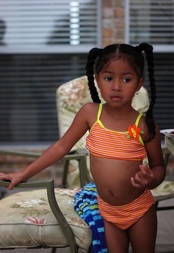 Black Little Girl Swimsuit