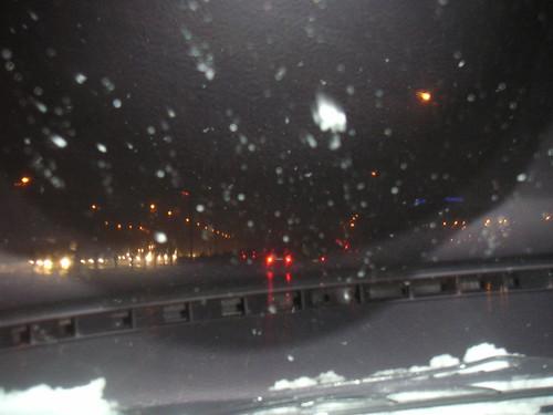 Conduint amb neu a l' Autopista B-23