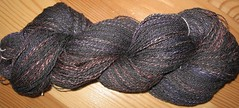 Skein 3, charcoal grey merino silk