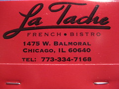 La Tache matchbook