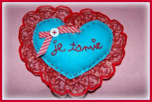 je t'aime valentine stuffie