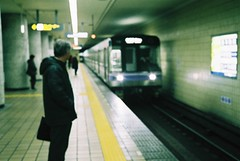 (bobby stokes) Tags: blur slr film japan rollei train underground subway japanese tube natura 1600 nagoya fujifilm analogue manual salaryman   urbanlife rollei35 fujicolor 35s chikatetsu  natura1600 rollei35s fujinatura1600 fujifilmnatura1600 fujicolornatura1600 salarymab