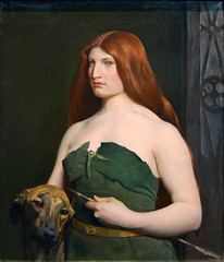 A Celtic Huntress, 1890 (Maulleigh) Tags: art museum forest painting de george san francisco fine arts young brush deyoung celtic huntress 1890 a