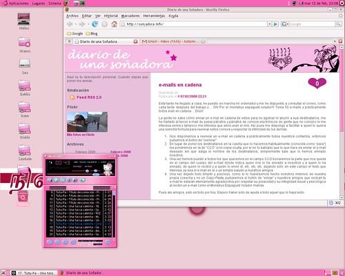 ubuntu pink and black - photo #33