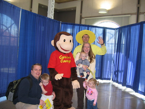 Our one lousy picture with Curious George
