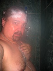 366.280 Shower Shot (Diogioscuro) Tags: bear selfportrait me self shower yo eu io dws 365days diogioscuro