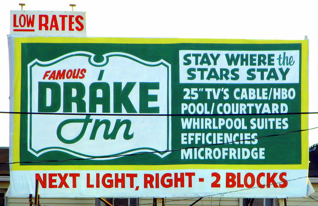 Drake Inn (or motel) Billboard