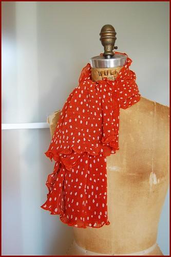 vintage crinkly scarf