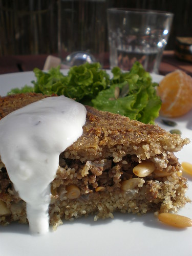 Kibbeh bil Sanieh (on a Tray)