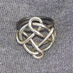 celtic knot ring (leespicedragon) Tags: original art silver handmade oneofakind ooak magic gothic jewelry sterling spiritual magical forged marvinleebillings