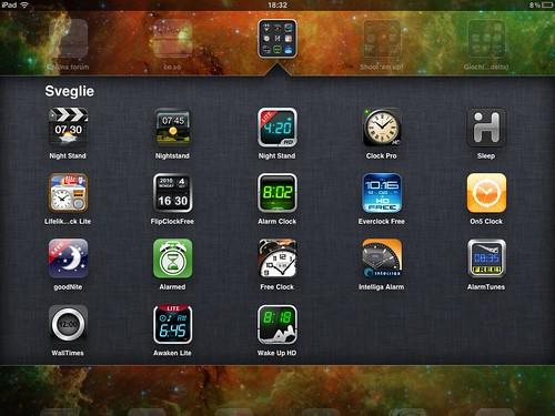 (un mare di) Sveglie (per iPad)