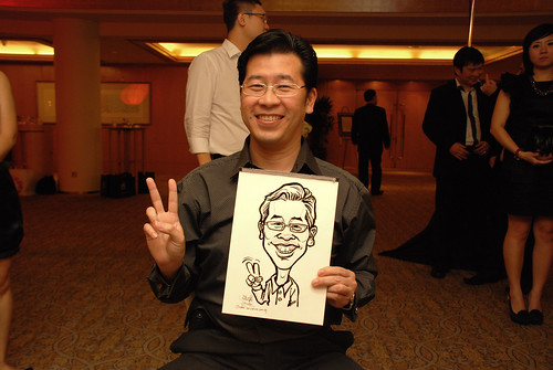 caricature live sketching for Great Eastern Achievers Nite 2011 - 4