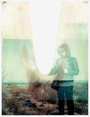 whiter. (pablowish) Tags: winter color film girl analog polaroid seaside instant expired whiter 669 peelapart 110a vision:outdoor=0653 vision:plant=0599