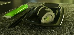 Sushi for dinner (littleeve) Tags: black green sushi maki roll wasabi
