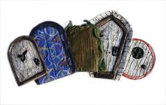 The Full Set of Faerie Doors (Knottwood) Tags: faerie door fairy faery fae pixie garden shelf handmade ornament decorative