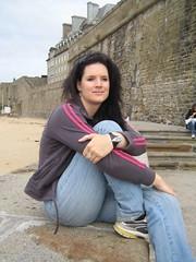 Bron in St Malo (Bronny Bird) Tags: holiday france mark bron 2007