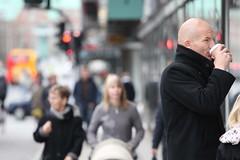 Man drinking coffee in CPH (joshhphoto) Tags: life city coffee copenhagen break drinking busy metropolitan