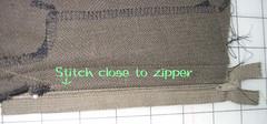 zipper fly step 5