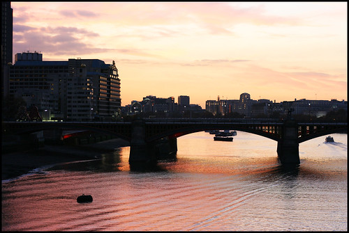 Sunset over Blackfriars