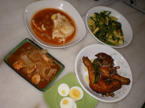 nasi lemak dishes