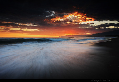 seascape twilight beach wave cloud sunset santabarbara california photofool