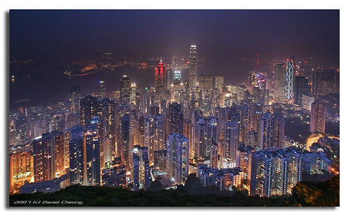 Hong Kong, the hazy hour