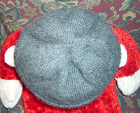 Top view of beanie
