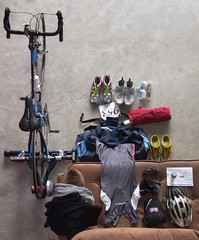 Triathlon - Readiness (Harvey Schiller - chateauglenunga) Tags: hat sunglasses bike bicycle sport set bag cycling belt shoes helmet goggles towel running number equipment event gloves receipt spare triathlon entry preparations sunscreen everythingbutthekitchensink readiness avanti trisuit clothestowearto gofasterjuice entryreceipt supplyowntriathlete notshowngopherandpersonaslphotographer