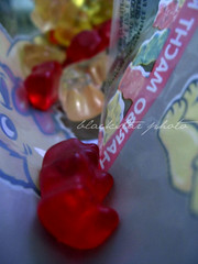 eat me, gummy bear. (blackstar photos) Tags: bear red orange white color macro yellow fun child candy sweet bambini full eat candies haribo gummy caramelle gommose