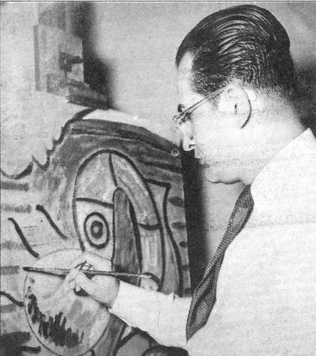 Guido Monteverde pintando