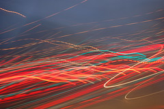 Crazy light movement (stefanopicco825) Tags: blue red color green slr car lights coast crazy nikon highway shot pic pch d40 pacifinc