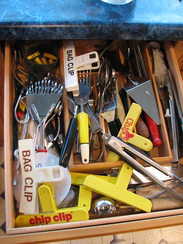 kitchen tool drawer before