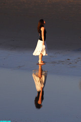 ParallelUniverse (mcshots) Tags: california venice winter woman usa beach water girl lady reflections pier losangeles sand shadows images socal shore lowtide mcshots smrgsbord