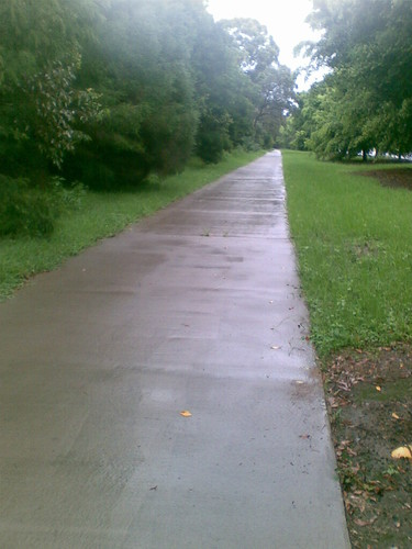 Cycleway on a rainy day