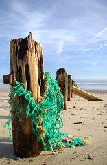 Wood and nets (fludvd) Tags: wood sea green sand samsung groyne gx10 fishingnet aficionados eastyorkshire seadefence spurnpoint