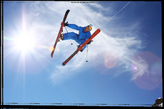 Laurent Duhem - Truck Driver (Mr Din) Tags: blue sky ski grab bigair