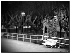 I was waiting you / Te estuve esperando (. SantiMB .) Tags: barcelona park parque bw espaa bench psp spain model banco bn paintshoppro catalunya garraf canyelles tiltshift miniaturas multiplylayers blackribbonbeauty theperfectphotographer multiplicarcapas