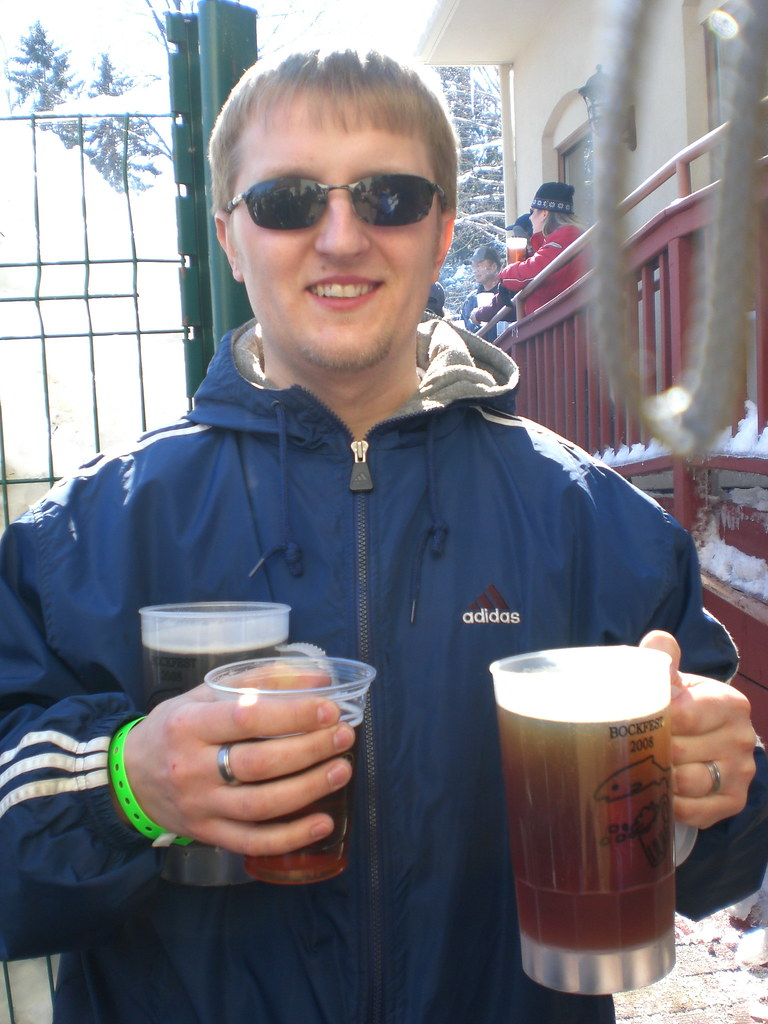 Bock Fest 2008 - me with beers
