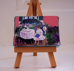 lily of giverny mini easel