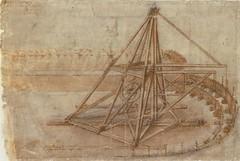 F 4r - Codex Atlanticus-maquina para excavar canales-Biblioteca Ambrosiana