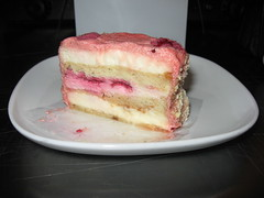 Batch: Raspberry and cream cake (another view)