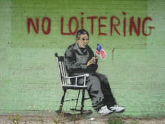 Banksy - New Orleans - No Loitering