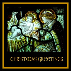 Christmas Greetings (tina negus) Tags: christmas xmas friends window happy stainedglass greetings nativity kempe barkston colorphotoaward