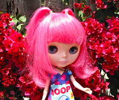 In the Pink (jinjurblythe) Tags: pink london hair blythe prima takara wheeeee