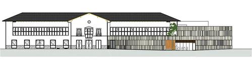 Proyecto del edificio que compartirán MU y Goiena