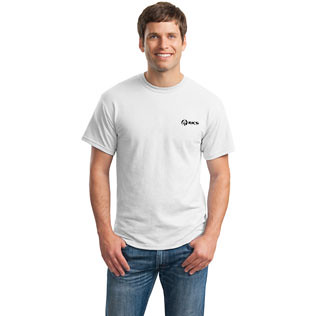 Promotional Products-Gildan® Ultra Blend 50=50 CottonPoly T-Shirt (White)  3867